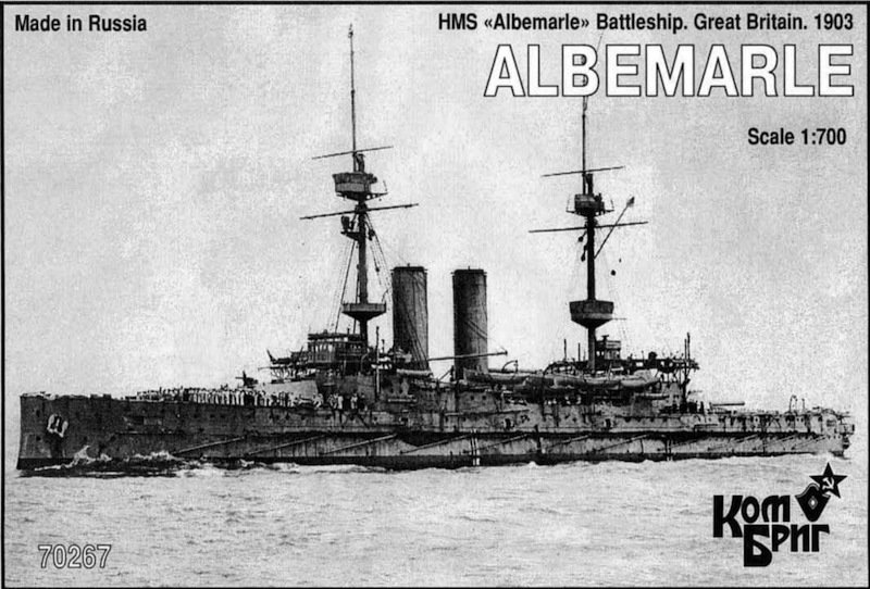 Combrig 1/700 Battleship HMS Albemarle, 1903, resin kit #70267
