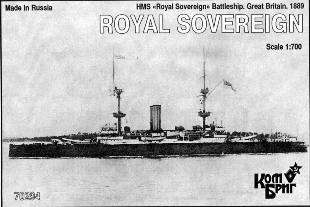 Combrig 1/700 Battleship HMS Royal Sovereign, 1889, resin kit #70294