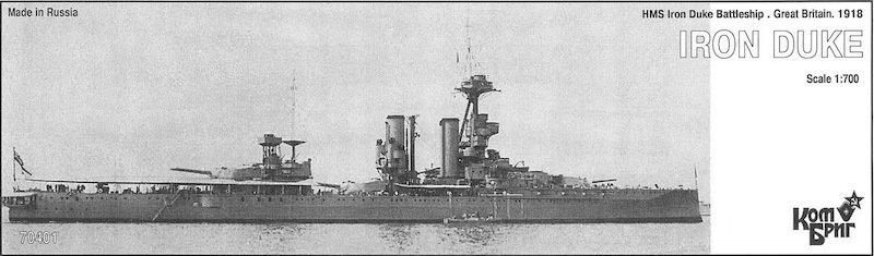 Combrig 1/700 Battleship HMS Iron Duke, 1918, resin kit #70401PE