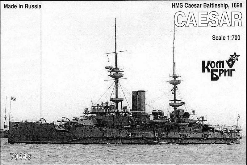 Combrig 1/700 Battleship HMS Caesar, 1898, resin kit #70443