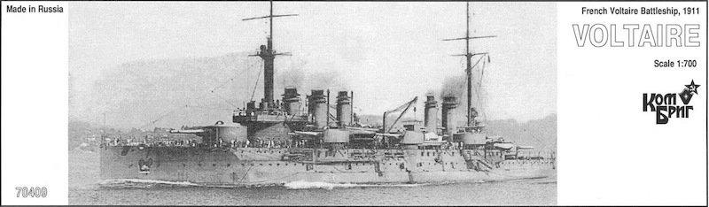 Combrig 1/700 Battleship Voltaire, 1911, resin kit #70409PE