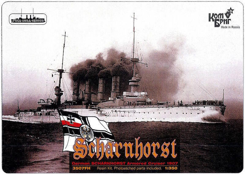 Combrig 1/350 German Armored Cruiser Scharnhorst, 1907, resin kit #3507WL