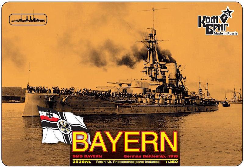 Combrig 1/350 German Battleship SMS Bayern, 1916, resin kit #3536WL