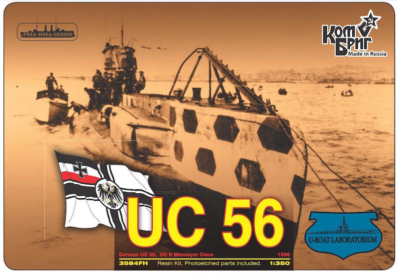 Combrig 1/350 German Submarine UC-56, 1916, resin kit #3584FH