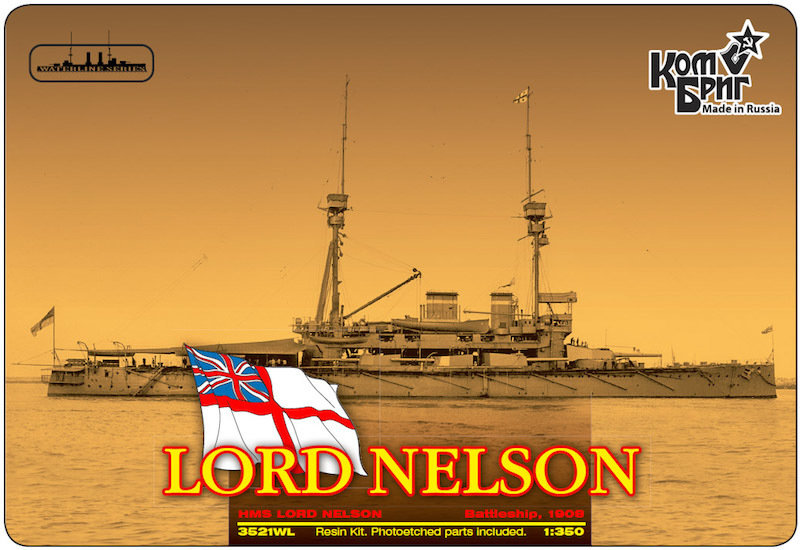 Combrig 1/350 Battleship HMS Lord Nelson, 1908, resin kit #3521WL