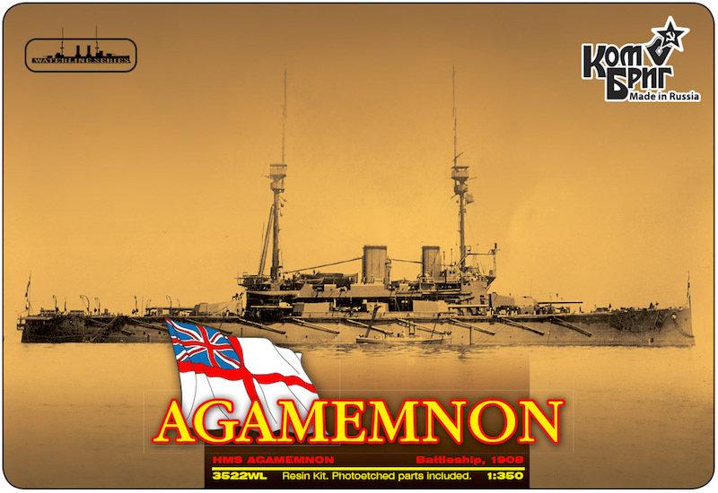 Combrig 1/350 Battleship HMS Agamemnon, 1908, resin kit #3522WL