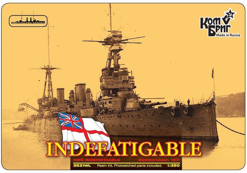 Combrig 1/350 Battlecruiser HMS Indefatigable, 1911, resin kit #3531WL