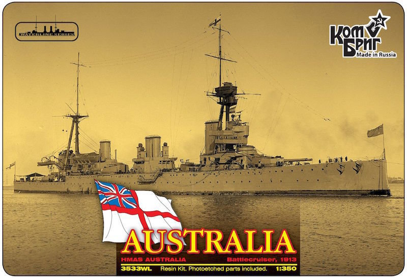 Combrig 1/350 Battlecruiser HMAS Australia, 1913, resin kit #3533WL