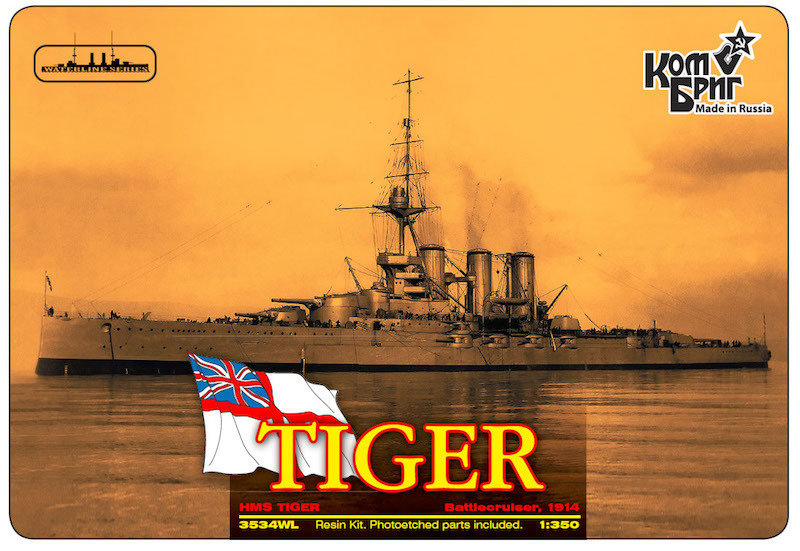 Combrig 1/350 Battlecruiser HMS Tiger, 1914, resin kit #3534WL