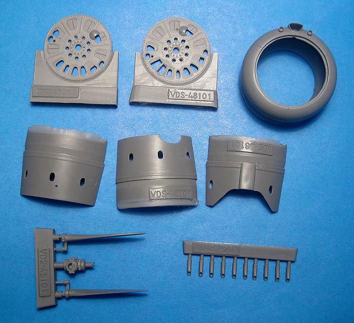 1/48 I-153 Chaika Correction set #1 for ICM kit Vector Resin #VDS48-101