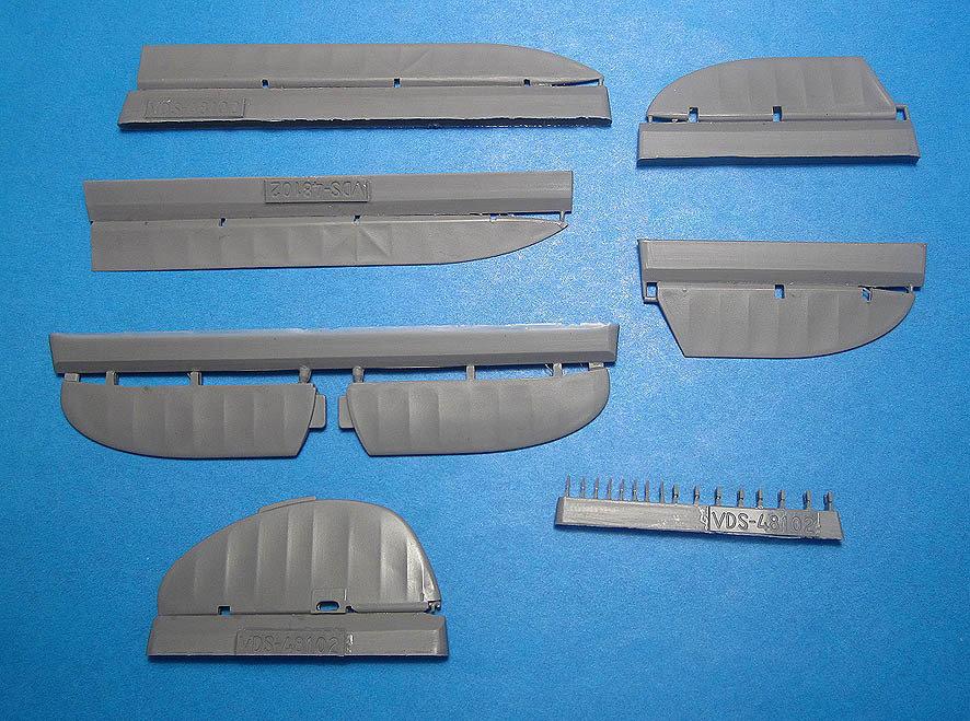 1/48 I-153 Chaika Correction set #2 for ICM kit Vector Resin #VDS48-102
