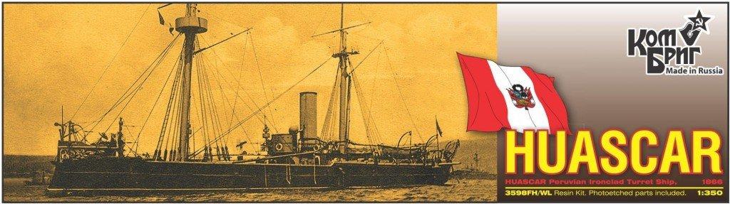Combrig 1/350 Ironclad Turret Ship Huáscar, Peru, 1866