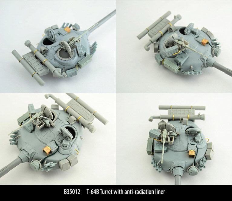 Miniarm 1/35 T-64B Turret with anti-radiation liner, includes PE part