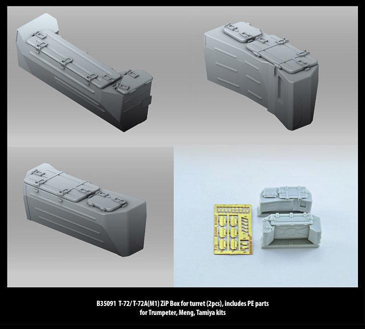 Miniarm 1/35 T-72/ T-72A(M1) ZiP Box for turret (2pcs), includes PE parts