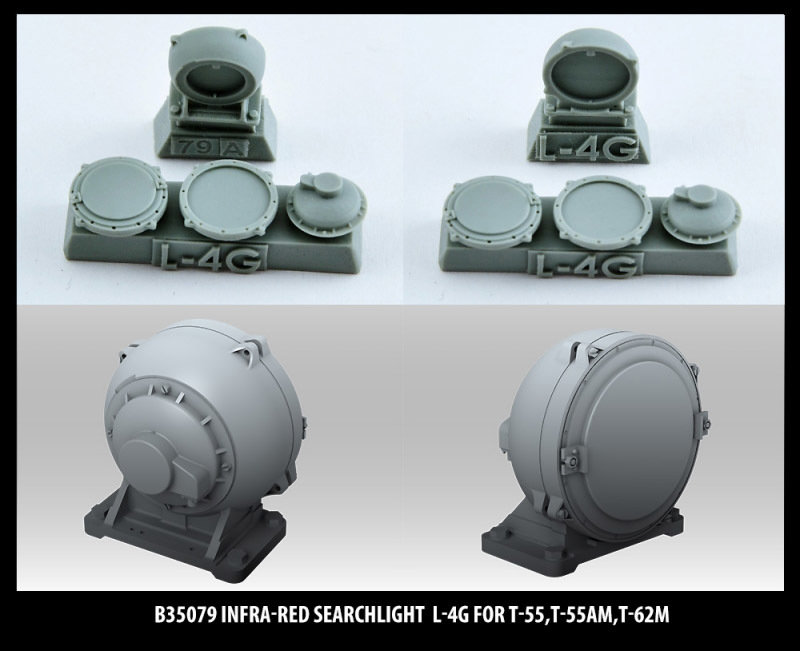 Miniarm 1/35 Infra-red searchlight L-4G for T-55,T-55AM,T-62M