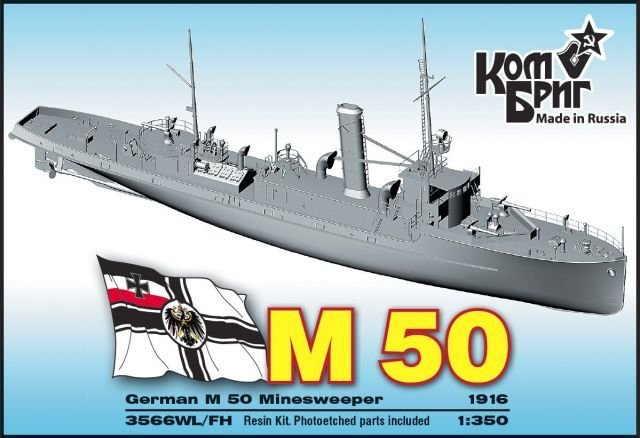 Combrig 1/350 German Minesweeper SMS M-50, 1916, resin kit #3566WL/FH