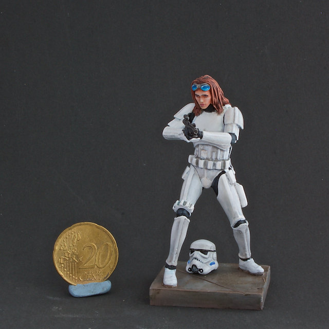 70mm StarWars Rebel disguised as Trooper custom figure