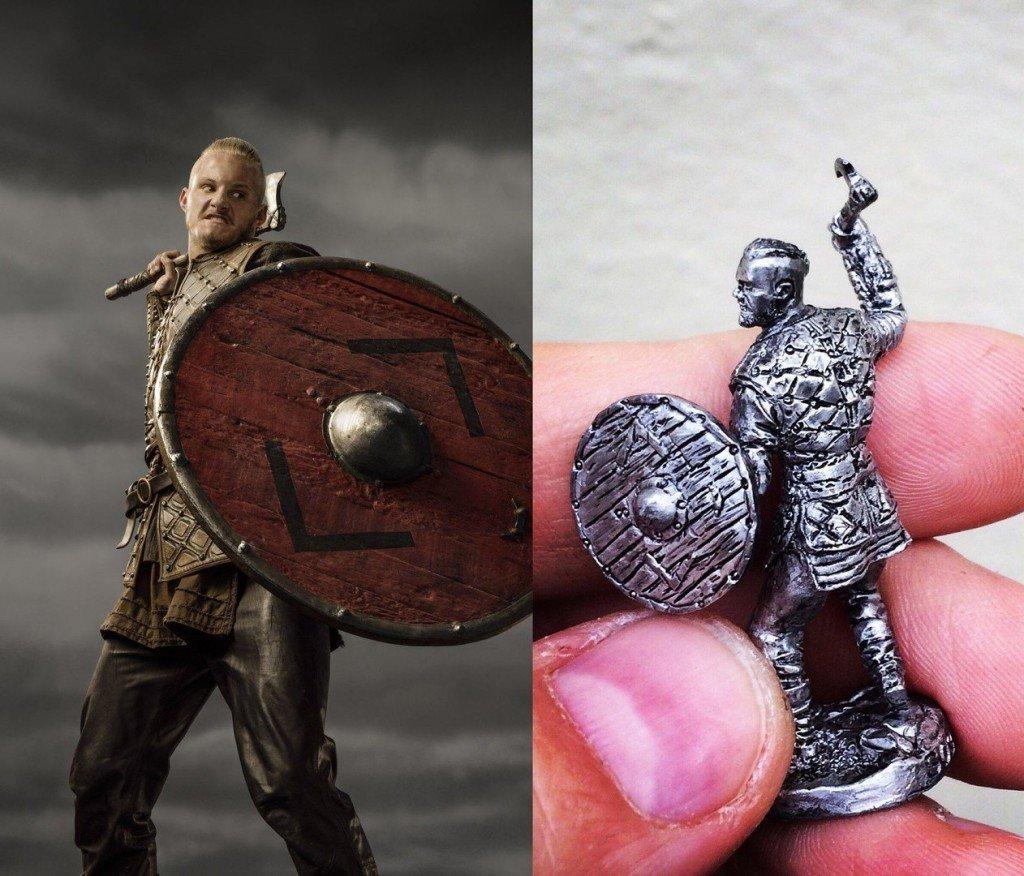 40mm Bjorn, Viking metal miniature