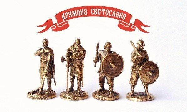40mm Vikings Warband brass metal miniatures - 4pcs