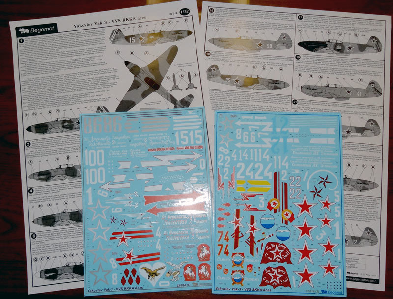1/32 Yak-3 VVS RKKA aces Decal Begemot