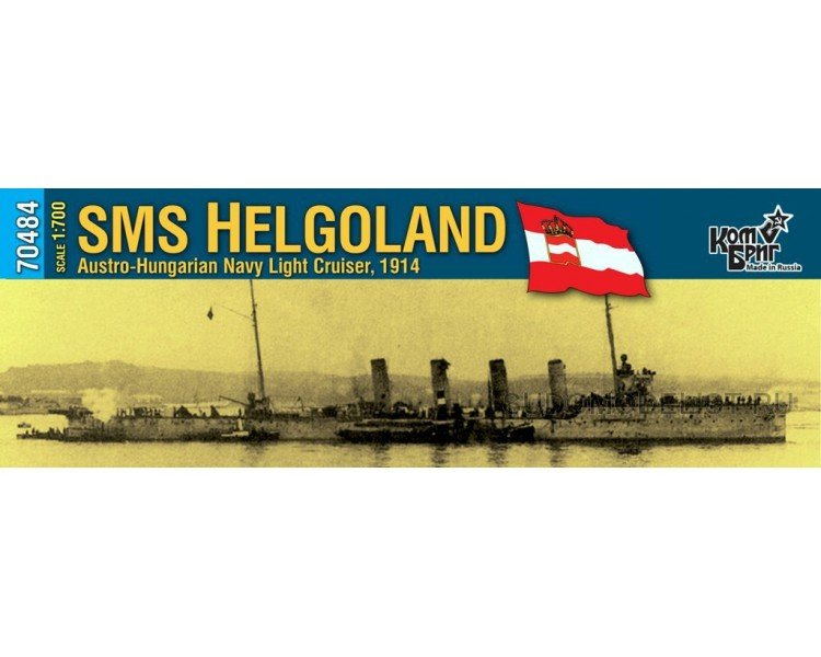Combrig 1/700 Light Cruiser SMS Helgoland, Austro-Hungary, 1914, resin kit #70484