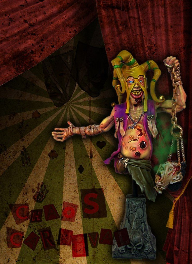 Chaos Carnival Jester 1/10 resin bust by Garry Miniatur's