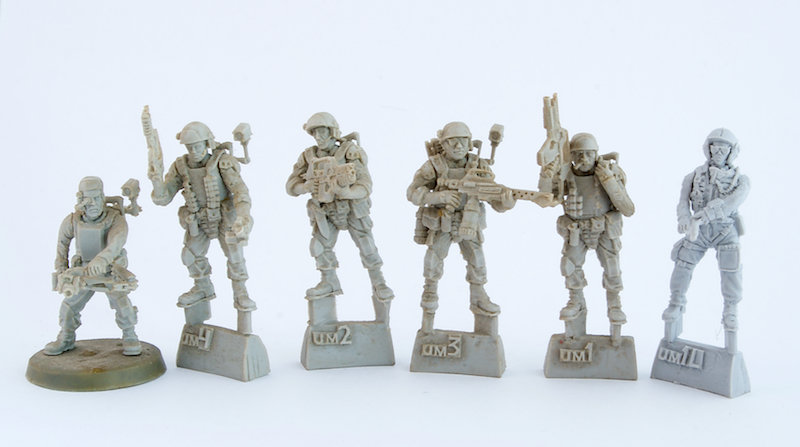 ALIENS movie 28mm Colonial Marines pack 5pcs +1 FREE figure