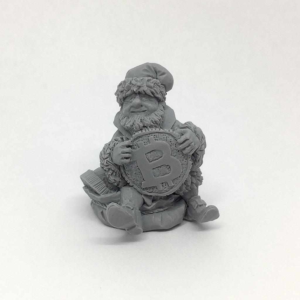 54mm Bitcoin Leprechaun resin figure by ArtGo - souvenir for Cryptocurrencies pals
