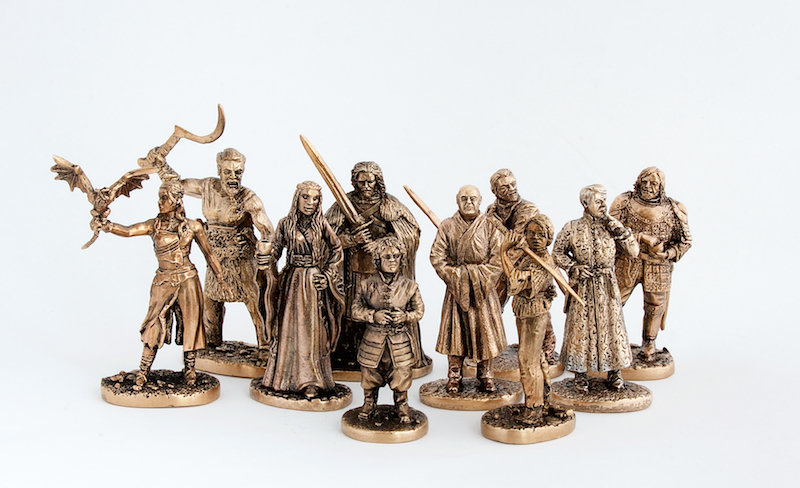 Game of Thrones 40mm brass miniatures pack: 17pcs