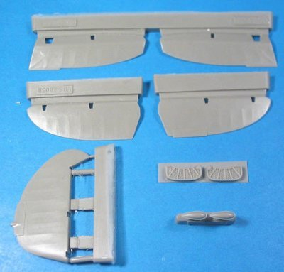 1/48 La-5FN Control Surfaces Vector resin for Zvezda kit: VDS48038