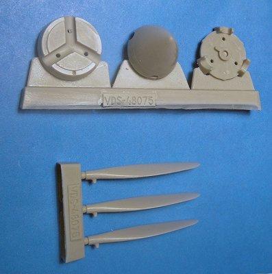 1/48 P-40E/N Corrected Prop & Spinner Vector Resin: VDS48075