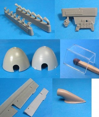1/48 Bf-109F-2 correction set Vector resin for Zvezda: VDS48039