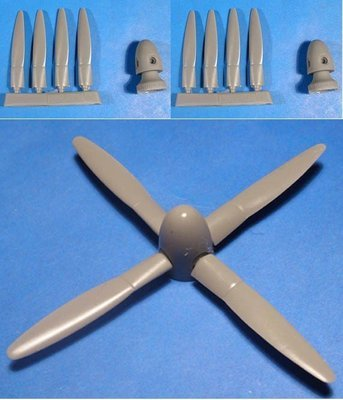 1/48 P-61 Black Widow propeller & spinner set Vector resin for Monogramm: VDS48045