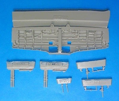 1/48 P-51B/C Mustang Wheel Wells Set Vector resin for Tamiya: VDS48032