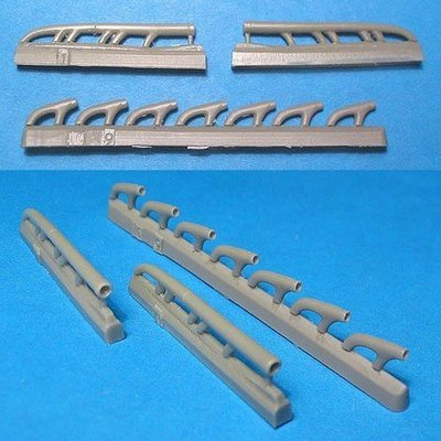 1/48 LaGG-3 Exhausts Pipes Vector resin for ICM: VDS48033