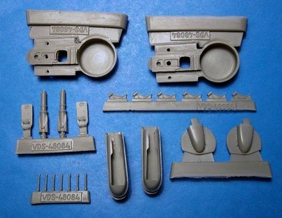 1/48 Re.2002 Wheel Wells, Landing Gear Vector resin for Tamiya/Italeri: VDS48084