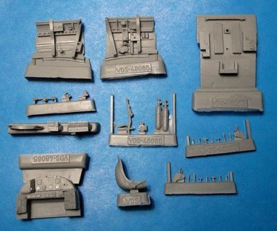 1/48 Reggiane Re.2002 Cockpit Set Vector resin for Tamiya/Italeri: VDS48085