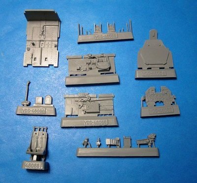 1/48 P-47N Thunderbolt Cockpit set Vector resin for Academy/Revell: VDS48088