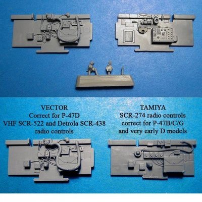1/48 P-47D Thunderbolt Cockpit Sidewalls Vector resin for Tamiya : VDS48089
