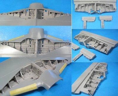 1/48 P-51D Mustang Wheel Wells Set Vector resin for Tamiya: VDS48020