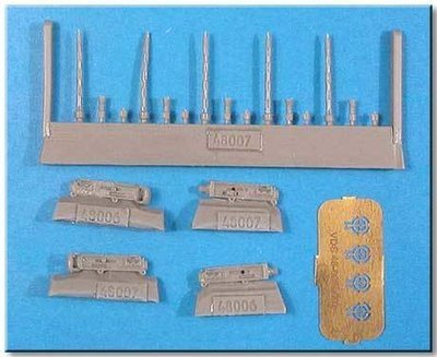 1/48 Browning M2 0.3 Cal Oval Perforation Vector resin: VDS48007