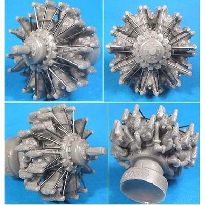 1/48 Gnome-Rhone GR-14M4/5 Engine Vector Resin #48-031