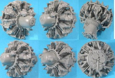 1/32 Pratt & Whitney R-2800 A/B (early) Engine Vector Resin #32-001