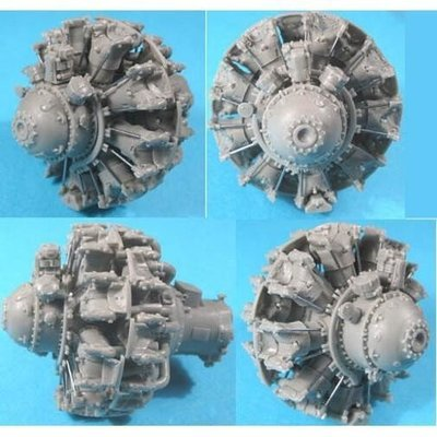 1/32 Pratt & Whitney R-2800 C (late) Engine Vector Resin #32-002
