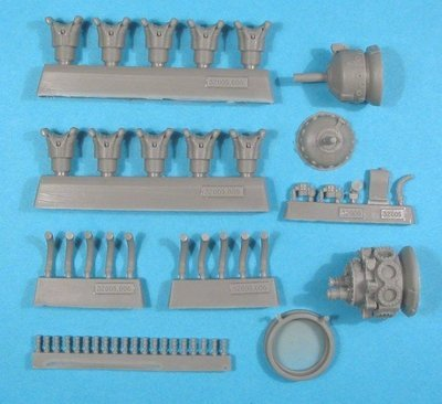 1/32 Wright R-1820G (mid) Shvetsov M-62/M-63 Engine Vector Resin #32-005