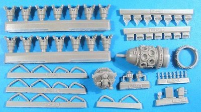 1/32 Pratt & Whitney R-1830 Engine Vector Resin #32-008