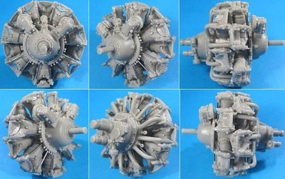 1/32 Pratt & Whitney R-1830-86 Engine Vector Resin #32-009