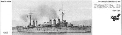 Combrig 1/700 Battleship Vergniaud, 1911 resin kit #70408PE