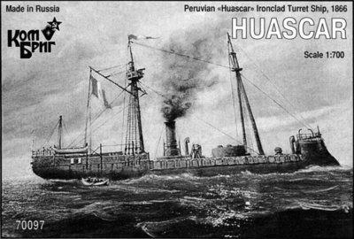 Combrig 1/700 Ironclad Turret Ship Huáscar, Peru, 1866 resin kit #70097PE