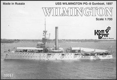 Combrig 1/700 Gunboat USS Wilmington PG-8, 1897, resin kit #70087PE